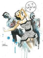 Lora Zombie Zombie Love Open Edition Mini Art Block Edition from Eyes on Walls