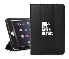 For iPad 2 3 4 5 Air Mini Pro Leather Smart Case Cover Golf Eat Sleep Repeat