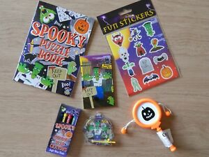 Halloween 6 Items Activity Pack Party bag Fillers Gift Toys Small Trick or Treat