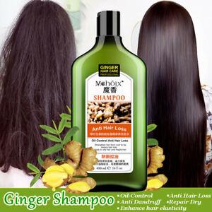 400ml Natural Ginger Shampoo Oil-Control Repair Dandruff Hair Loss Hair Care OZ