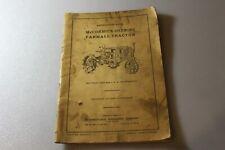 1928 McCormick Deering Farmall Tractor Original Instruction Book MC-D 2216
