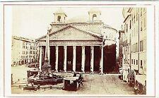 Photo cdv : Le Panthéon à Rome , Italie , vers 1880