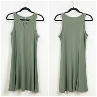 Mudd Medium Womens Army Green Knit Shift Tank Dress