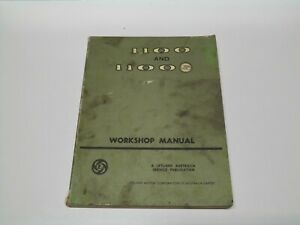 Leyland 1100 and 1100S Factory Workshop Manual TP833A 1977