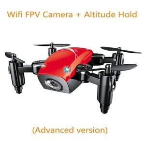 Mini Drone Gift Camera Record Helicopter Kid Birth Day Control Foldable Small