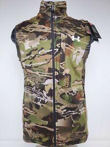 Mens Under Armour Cold Gear Hunting Fleece Camo Vest Medium 1316864 Minor Defect