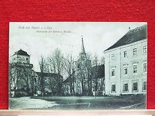 AK - Asparn a. d. Zaya - Bez. Mistelbach - gel. 1914 - Kirchplatz mit Schloss +