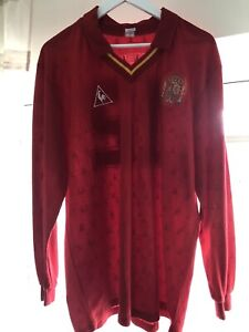 Spain 1988 Match Worn L/S Shirt #12 Versus Scotland COA Provided.