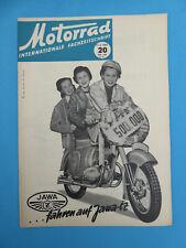 Internat. Fachzeitschrift MOTORRAD 20 -1955 JAWA, MV-Agusta, Ovunque Roller, DKW