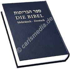 "DIE BIBEL - HEBR�""ISCH-DEUTSCH - Die heilige Schrift in Hebräisch & Deutsch  °CM°"