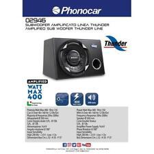 Subwoofer amplificato boxato 400W 300mm (12'') Phonocar 02946