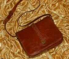Vintage The Bridge Chestnut Brown Genuine Leather Shoulder Bag