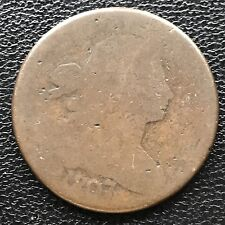 1807/6 Large Cent Draped Bust One Cent 1c 1807 worn #6590