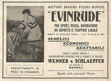 Y2726 Motori marini EVINRUDE - Pubblicità del 1922 - Old advertising