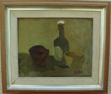 Filip Liljeson 1910-1983, Natura morta con Bottiglia und Coppa, a 1950