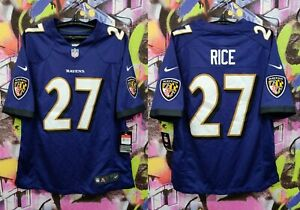 Baltimore Ravens Ray Rice #27 NFL Football Jersey Sewn Stitched Nike Mens size L