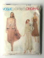 VOGUE Designer Original Pattern 2026 VERSACE GENNY Jacket Skirt Sz 10 UNCUT