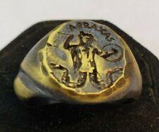 ABRAXAS  Ancient Ring-Vintage-Antique ROMAN-RARE   Bronze