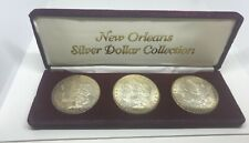 Uncirculated NEW ORLEANS Morgan Silver Dollar Collection ~ 3 Coin Set 1883-84-99