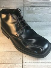 Kenneth Cole Reaction Men's Black Leather Lace Up Ankle Boots Size 10 FREE SHIP