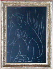 HENRI MATISSE / Authentic Graphite on Paper, Art Painting Signed & Dated. 47