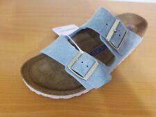 NEW Birkenstock Arizona Soft Footbed Light Blue Suede Leather Sandal  -  EU 39 N