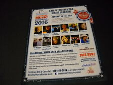 COUNTRY Cruise 2015 PROMO AD Kenny Rogers KATHY MATTEA Oak Ridge Boys MEL TILLIS