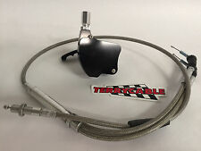 Banshee Terrycable Steel Braided Throttle Cable Keihin Large Carb Black Throttle