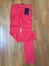 NWT Dickies Junior Coral/Red Pants, 5 Pocket Classic Skinny Low Rise Pant Size 5