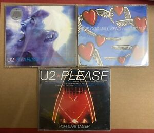 Lotto 3 Cd singoli U2 da Pop 1997
