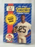 Trading Card Box CFL All World Canadian Football League 1991 Rocket Ismail