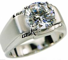 5.0 Carat CZ Solitaire Mens Ring Platinum Overlay Size 13