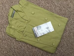"""CHEF WORKS CHEFS JACKET XS BRIGHT GREEN 36/38 """" 100% COTTON CHEST FCLI"""