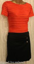 Karen Millen Mix Fabric Sporty Dress Skirt Pleated Colour Block Tunic Zip 8 36