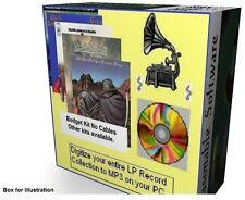 convert copy VINYL records LP tapes cassettes to MP3 digital audio conversion.