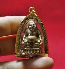 Bronze Phra Sung Ka Jai  Thai Buddha Amulet For Good Luck , Wealth #P2