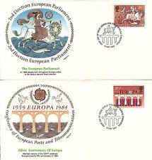 Great Britain 1986 Eupopa Fdc Sc# 1141/744 (4) covers w/ Fleetwood cachet-Ww7280
