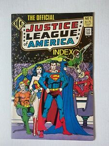 The Official Justice League of America Index ICG 1986 George Perez