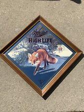 W@W Miller High Life Sly Fox Beer Bar Mirror Drink Lite Summer Man Cave