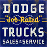 DODGE TRUCKS SALES AND SERVICE ADVERTISING METAL SIGN