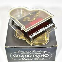 Musical Grand Piano Jewelry Box Plays 'Memory' Music Box Trinket *Note