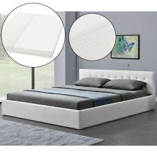 Polsterbett Doppelbett Kunstlederbett Matratze Bettgestell 180 x 200cm Juskys®