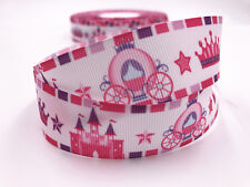 DIY 1 Yard 1''castle animation  Printed Grosgrain Ribbon Hair Bow Sewing