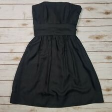 a82f016630d White House Black Market Silk Strapless Belted Bow Tie Cocktail Dress LBD  Size 0
