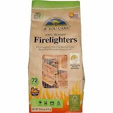 If You Care 100% Biomass Firelighters 2x72 PIECES (Pack of 2)