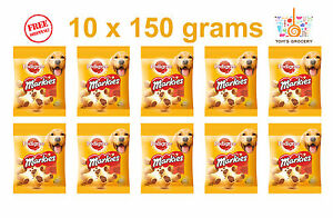 10 x PEDIGREE MARKIES WITH OMEGA 3 DOG TREATS 10 x 150g 5.3 oz FREE SHIPPING