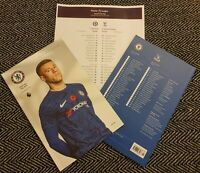 Chelsea v Crystal Palace OFFICIAL PROGRAMME with TEAMSHEET!!!