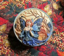Signed Peacock Fairy Trinket Box by Meredith Dillman