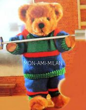 Knitting Pattern TEDDY BEAR Clothes TRACKSUIT SPORTS OUTFIT Dolls Teddies Dolly