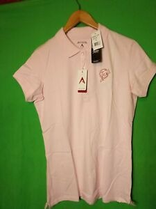 Antigua NFL Miami Dolphins Football Womens SS Polo Shirt X-Large Mid-Pink NWT